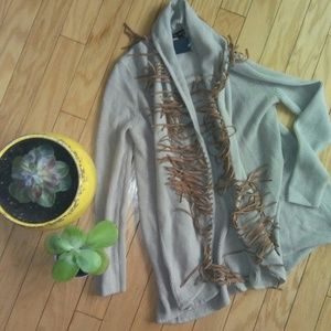 Ella moss sweater with fringe size small […